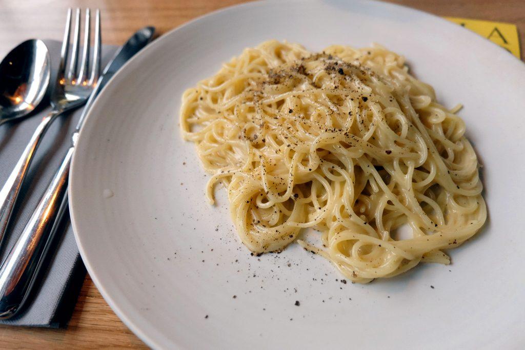 Pastabites dines at Palatino