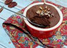 Vegan chocolate mousse with aquafaba
