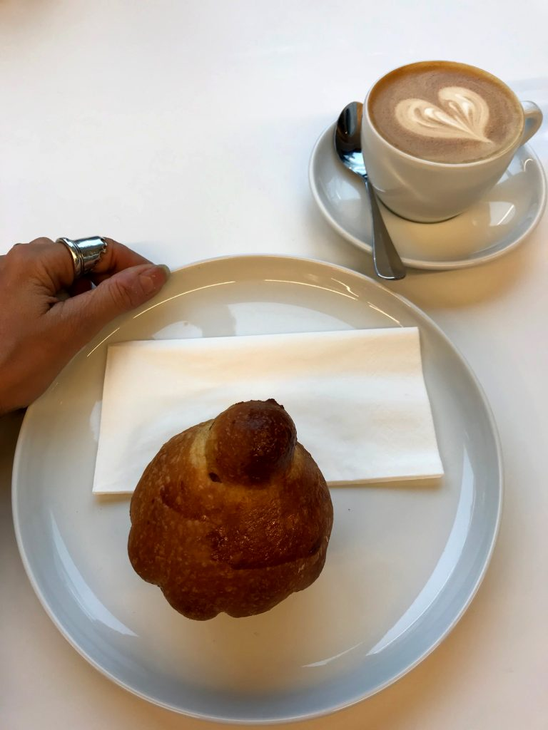 Pastry and coffee from Miro in Zurich