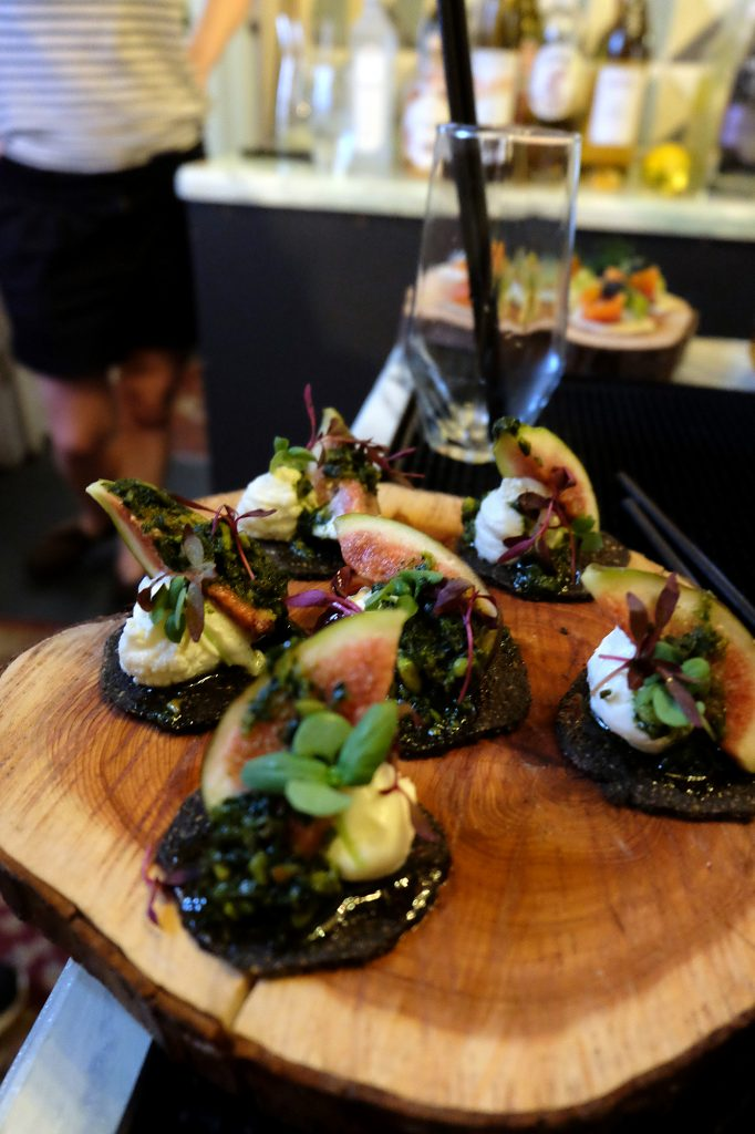 Canapes we enjoyed with the drinks