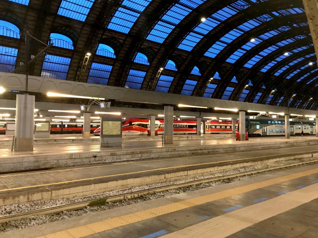 Early morning rail tracks in Milano