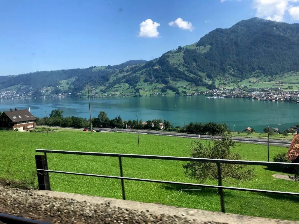Beautiful views on Swiss lakes