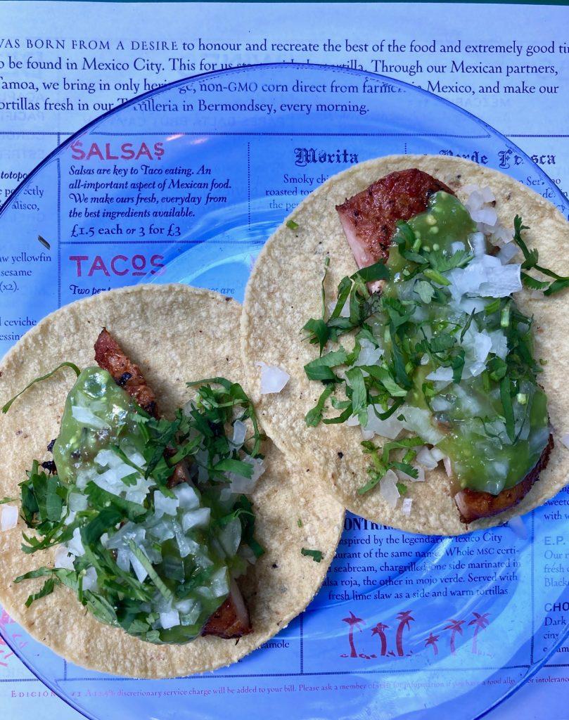 Chicken tacos from El Pastor