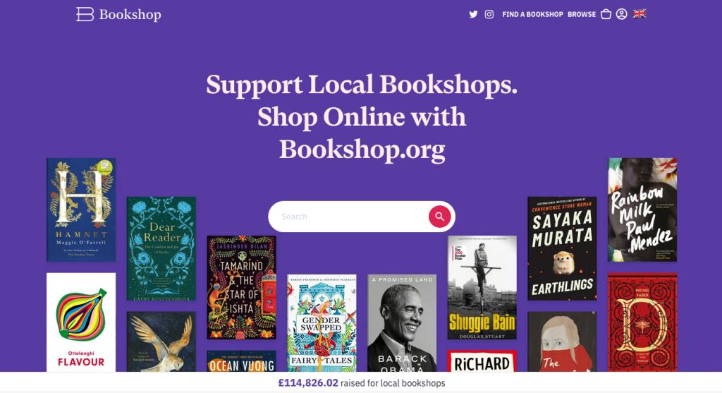 UK Bookshop website